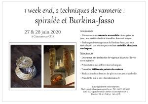 stage vannerie spiralée et burkina-Fasso